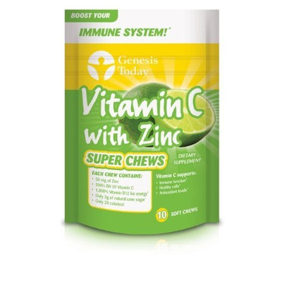 Genesis Today Vitamin C With Zinc Vitamin Super Chews, 10-Count (Pack of 2)