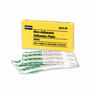 North Safety X 3'' Latex Free Plastic Adhesive Bandage Patch (4 Per Box)