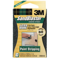 3M 3m 20909-60 60 Grit SandBlaster Paint Stripping Sanding Sponge Block
