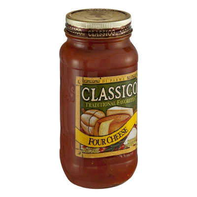 Classico Traditional Favorites Four Cheese Pasta Sauce