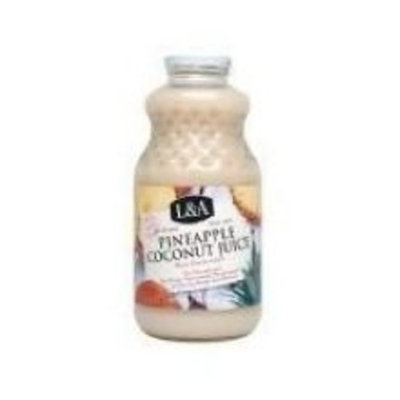 L A L&A Coconut Pineapple Juice, 32-Ounce (Pack of 6)