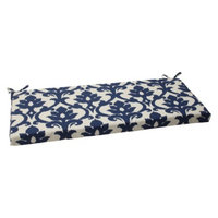 Pillow Perfect Outdoor Bench Cushion - Blue/White Damask