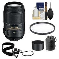 Nikon 55-300mm f/4.5-5.6G VR DX AF-S ED Zoom-Nikkor Lens with HB-57 Hood & Pouch Case + UV Filter + Kit for D3100, D3200, D3300, D5100, D5200, D5300, D7000 & D7100 DSLR Cameras