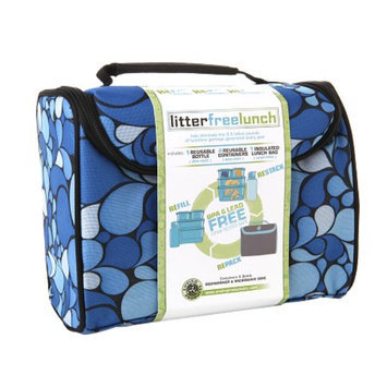 New Wave Enviro Litter Free Lunch Box w/containers, Blue, 1 ea