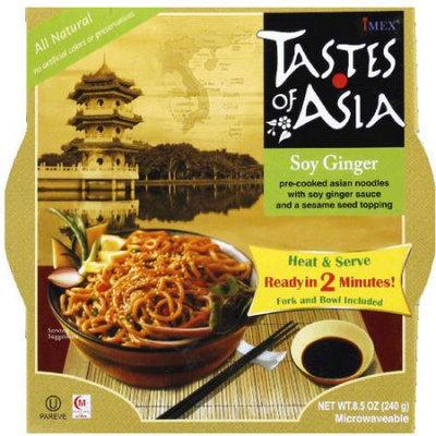 Tastes of Asia Soy Ginger Noodle Bowl, 8.5 oz, (Pack of 6)