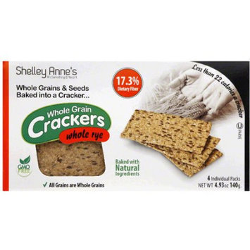 Shelley Annes Shelley Anne's Whole Rye Whole Grain Crackers, 4.93 oz, (Pack of 12)