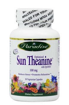 Paradise Herbs Optimized Sun Theanine 100 mg - 30 Vegetarian Capsules