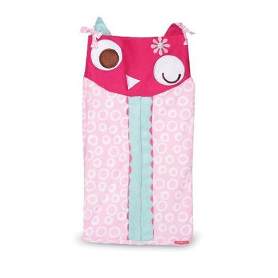 Zutano Owls Diaper Stacker, Pink (Discontinued by Manufacturer)