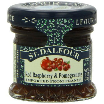 St Dalfour ST. DALFOUR Pomegranate and Red Raspberry Conserves, 1-Ounce Jars (Pack of 48)