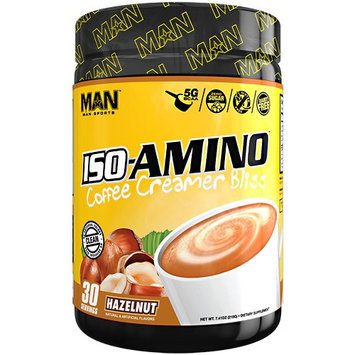 MAN Sports Coffee Creamer Bliss Iso-Amino, Hazelnut, 30 Servings