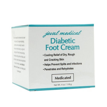 Jeval Medical Diabetic Foot Cream, 4 oz