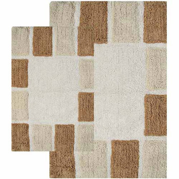 Chesapeake 2 Piece Mosaic Tiles Bath Rug Set