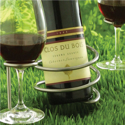 Wine Enthusiast Outdoor Wine Bottle Holder (Set of 2)