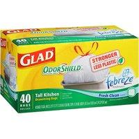 Glad Tall Kitchen Bags Drawstring 13Gal. 40BG/BX White
