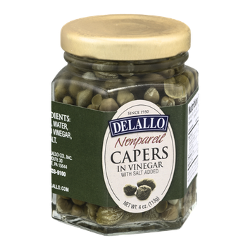 Delallo Nonpareil Capers in Vinegar with Salt Added