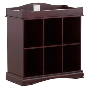 Stork Craft Beatrice 6 Cube Organizer/Changing Table - Cherry