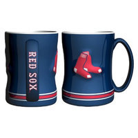 Boelter Brands MLB Red Sox Set of 2 Relief Coffee Mug - 14oz