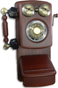 Golden Eagle GOLD-GEE-8705D Country Wood Phone MAHOGANY