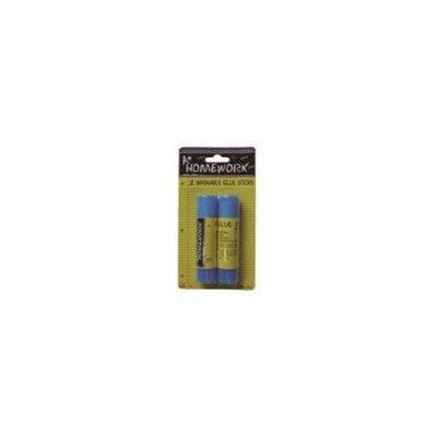 A+homework Glue Sticks Washable - 2 pk - .53 oz ea