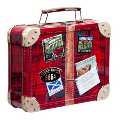 Walkers Shortbread Suitcase Tin
