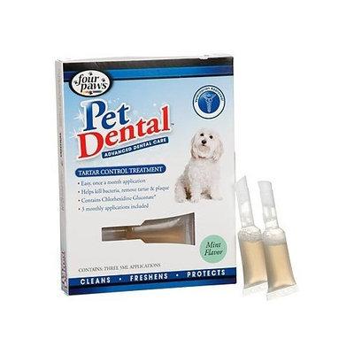 Four Paws PetDental Tartar Control Treatment Ampoules, 3pk.