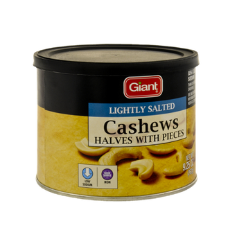 Giant Cashews Halves with Pieces, Lightly Salted