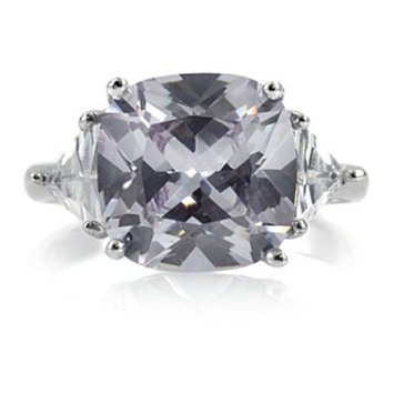 Emitations Jennifer Lopez Inspired Cubic Zirconia Engagement Ring