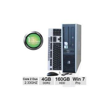 Refurbished HP DC7800 Desktop PC - Intel Core 2 Duo 2.33GHz, 4GB Memory, 160GB HDD, DVD, Windows 7 Professional 64-bit (Off-Lease) -