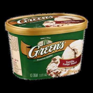 Green's Premium Ice Cream Vanilla Fudge Swirl