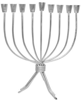 Artsy Casa Lamp Lighters Ultimate Judaica Menorah Iron Silver - 11H
