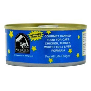 Solid Gold Chicken, Turkey, White Fish & Liver Formula Canned Cat Food 24-5.5-oz cans
