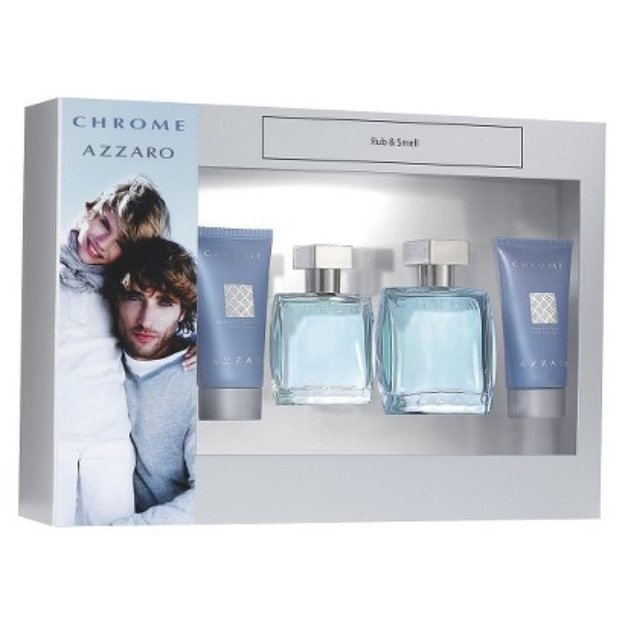 Men's Chrome by Azzaro Fragrance Gift Set - 4 pc