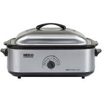Nesco 18-Quart Roaster Oven, Stainless Steel with Non-Stick Cookwell