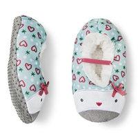 Circo Toddler Girls' Penguin Slipper Socks - Blue Sky 2T/3T