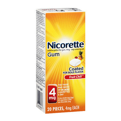 NICORETTE 4MG FRUIT COATED GUM 20 CT.