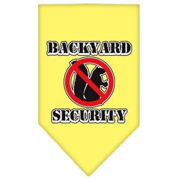 Mirage Pet Products Backyard Security Screen Print Bandana for Pets, Small, Yellow