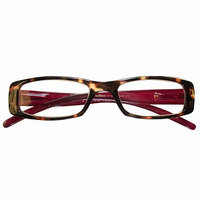 ICU Eyewear Reading Glasses  Rectangle Frame Solid Color Temples +1.75