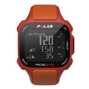 Polar Cic, Inc. Polar RC3 GPS Heart Rate Monitor Sports Watch Red/Orange