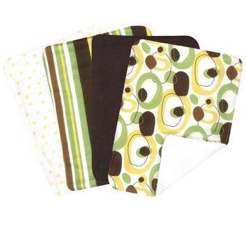 Trend Lab Giggles Four Piece Terry Burp Cloth Set