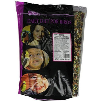 Fm Browns Sons Inc F.M. Brown's Tropical Carnival Gourmet Small Hook Bill Bird Food, 18-Pound
