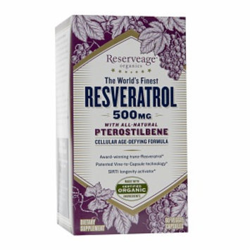 Reserveage Organics ReserveAge Organics Resveratrol 500mg with All-Natural Pterostilbene, Capsules, 60 ea