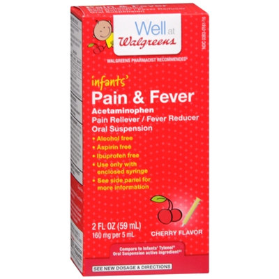 Walgreens Infant Pain/Fever Reducer, Cherry, 2 fl oz