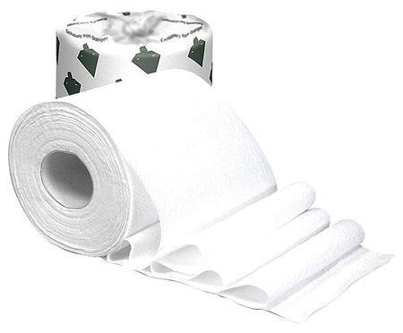 TOUGH GUY 31TW74 Toilet Paper,1000 Sheets, White, PK96