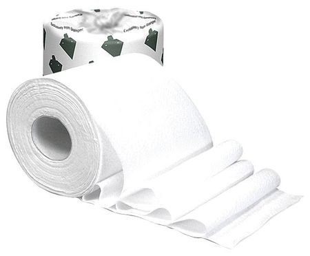 TOUGH GUY 31TW73 Toilet Paper,500 Sheets, White, PK96