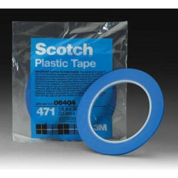 3M 6405 1/4-in. x 36-yard Blue Vinyl Painter's Tape