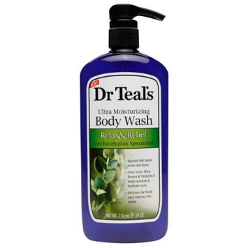 Dr. Teal's Ultra Moisturizing Body Wash, Relax & Relief with Eucalyptus Spearmint, 24 fl oz