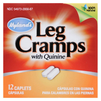 Hyland Leg Cramps Pain Relief Caplets with Quinine, 12 ct