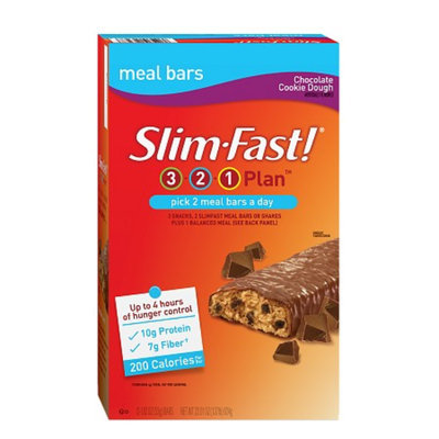 Slim-Fast 3-2-1 Plan 200 Calorie Meal Bars 5-Pack