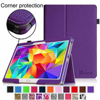 Fintie Folio Case Slim Fit Premium Vegan Leather Cover for Samsung Tab S 10.5-Inch Tablet, Violet