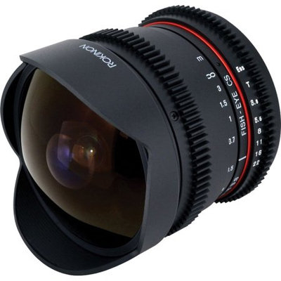 Rokinon 8mm t/3.8 Fisheye Cine Lens for Micro Four Thirds System